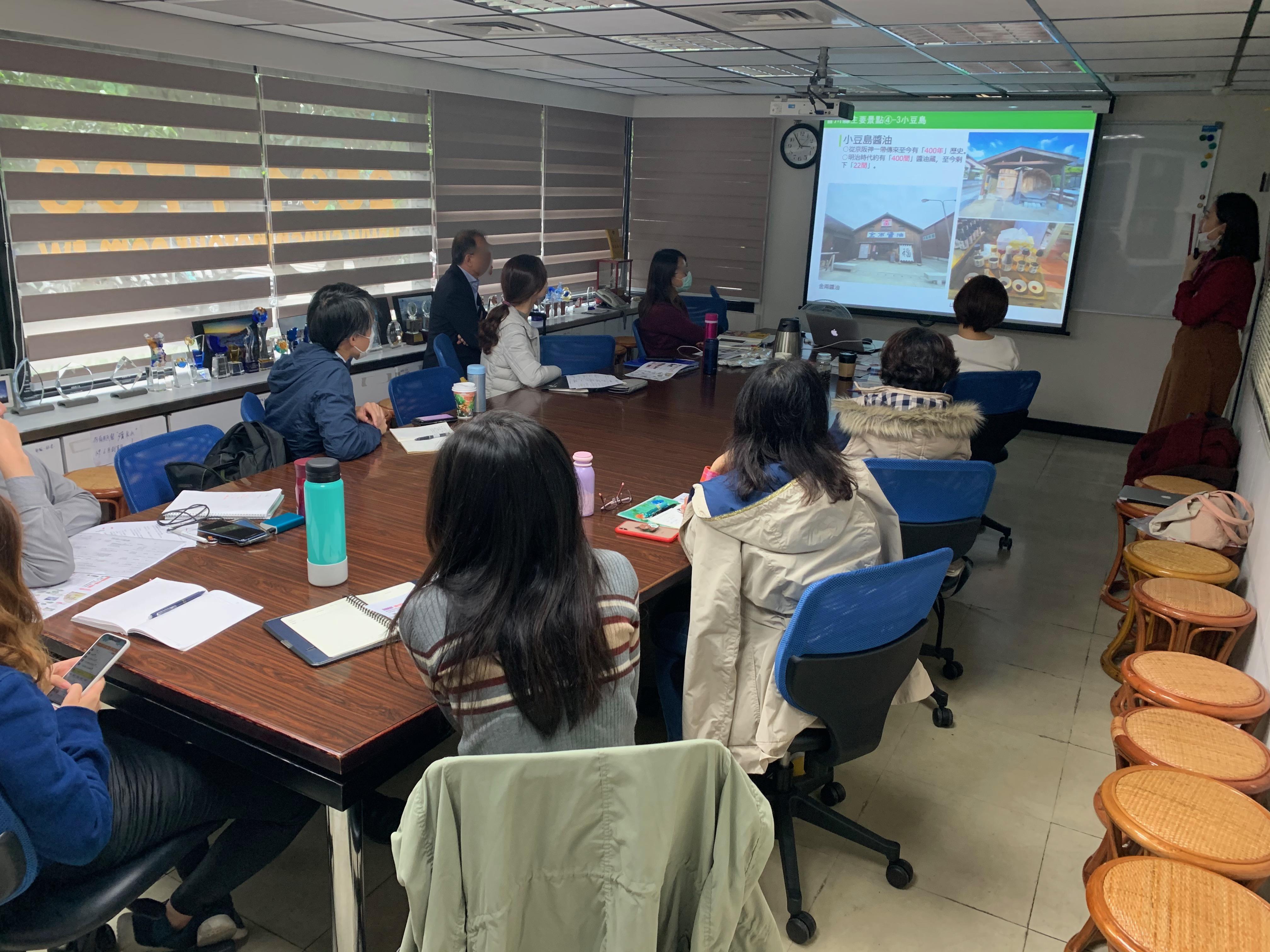 台湾旅行会社セールス、香川県レップとしてインバウンド情報を説明