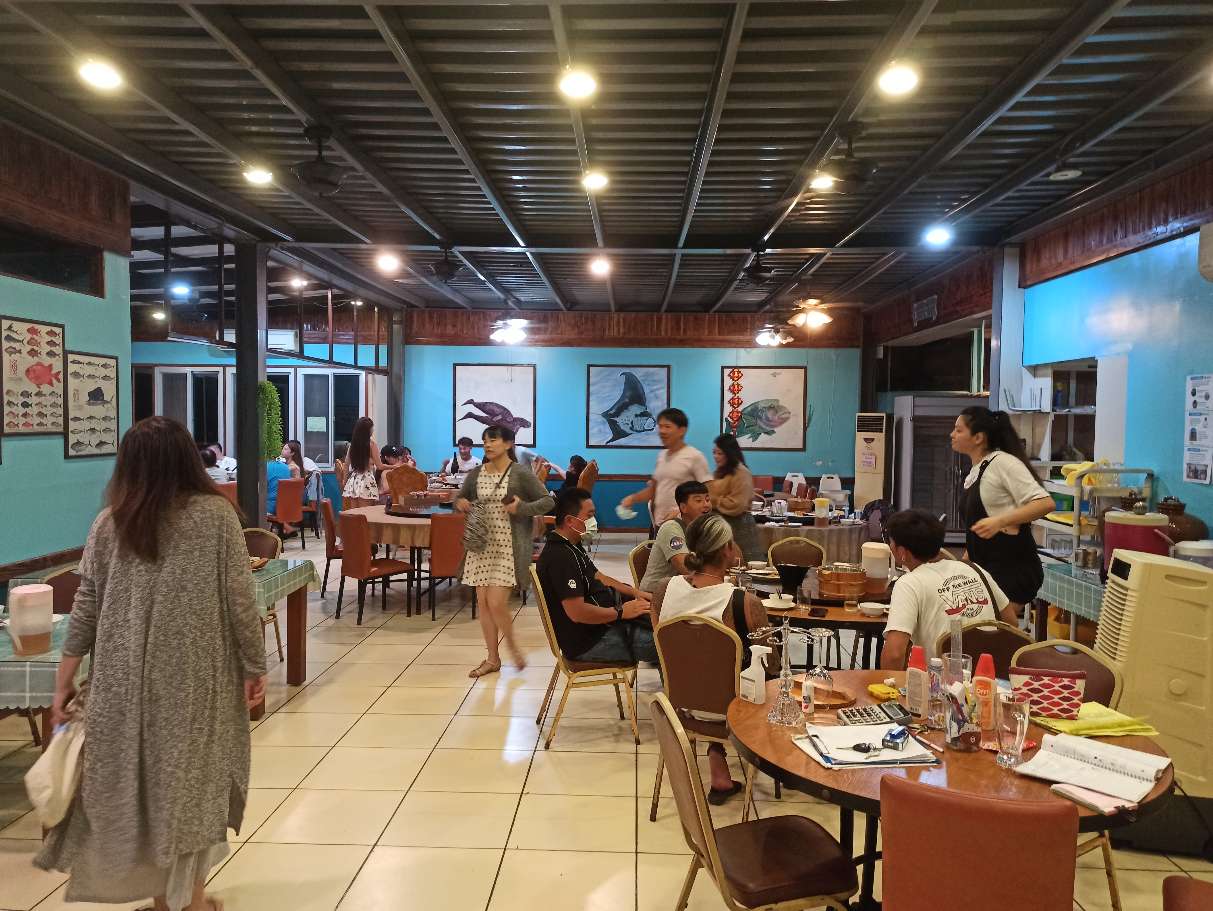 コロナ禍でのパラオの円卓のある台湾系レストラン